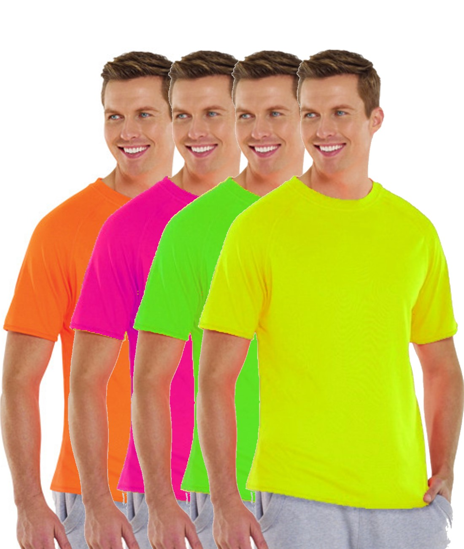 Herren Sport T Shirt Neon Lacy Dress